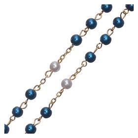 Różaniec imitacja perły połączenie pozłacane 6 mm s3