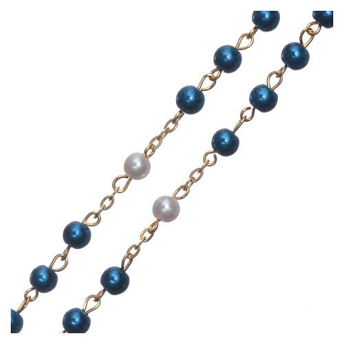 Różaniec imitacja perły połączenie pozłacane 6 mm 3