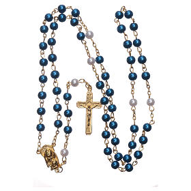Rosary with pearl imitation silver setting 6 mm s4