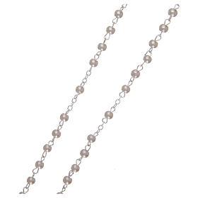 Rosario símil perla 2 mm blanco s3