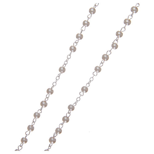 Rosario símil perla 2 mm blanco 3