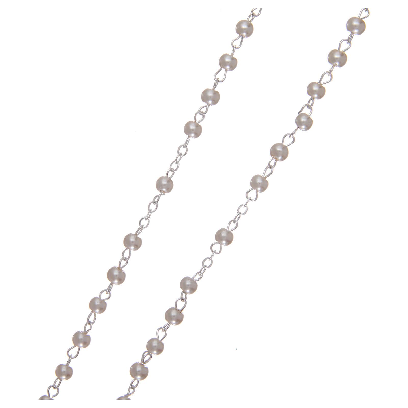 Imitation pearl rosary 2 mm white 4