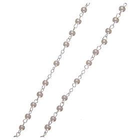 Imitation pearl rosary 2 mm white s3