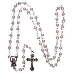 Imitation pearl rosary 2 mm white s4