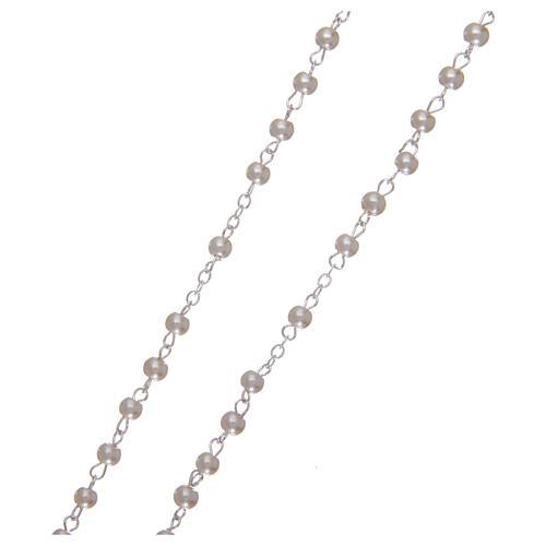 Imitation pearl rosary 2 mm white 3