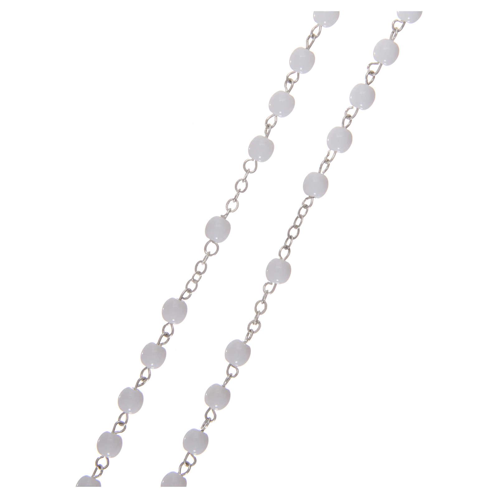 Rosenkranz, Perlen-Imitation Erstkommunion, 3 mm, mit Etui 4