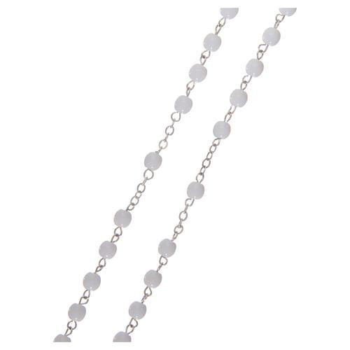 Rosenkranz, Perlen-Imitation Erstkommunion, 3 mm, mit Etui 3