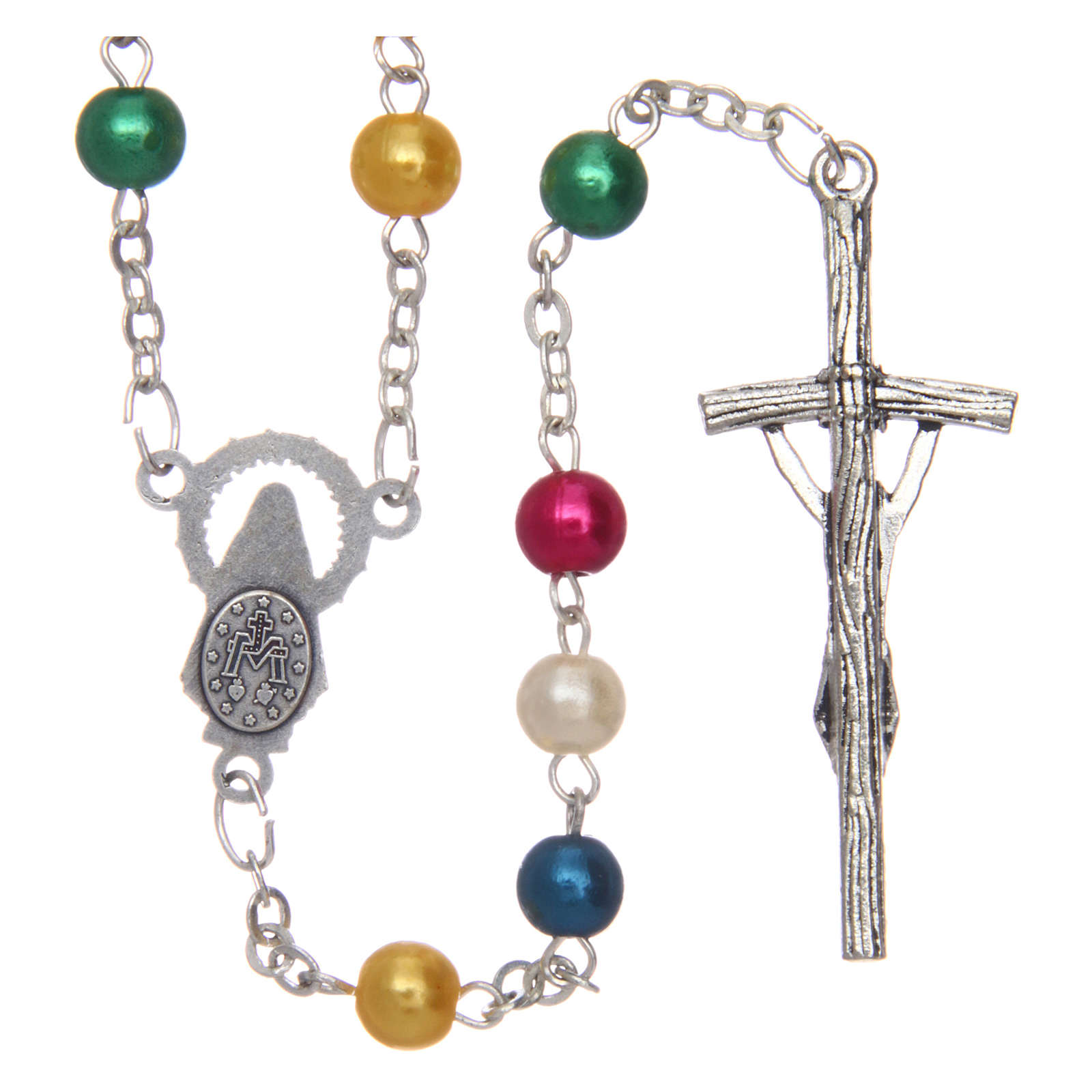 Missionary rosary in semi-pearl 6 mm 4