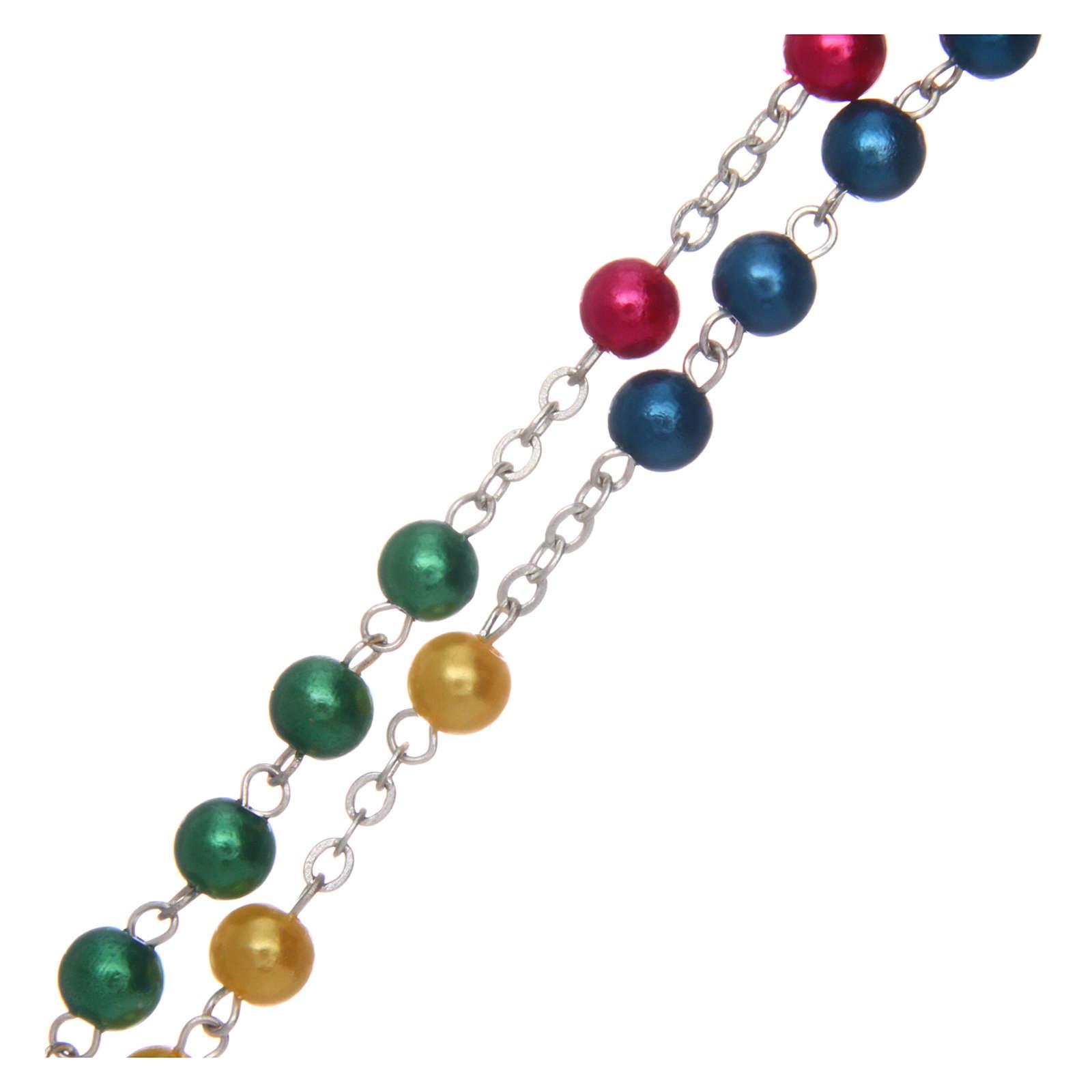 Rosario misionero de simil perla 6 mm 4