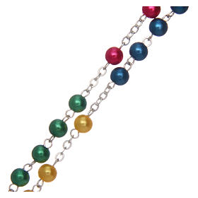 Rosario misionero de simil perla 6 mm s3