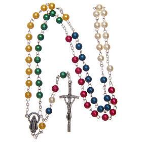 Rosario misionero de simil perla 6 mm s4