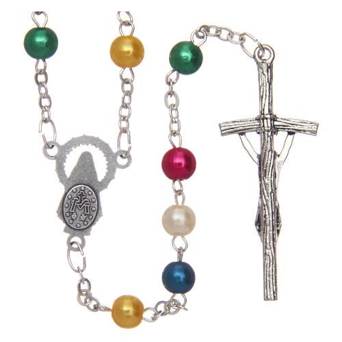 Rosario misionero de simil perla 6 mm 2