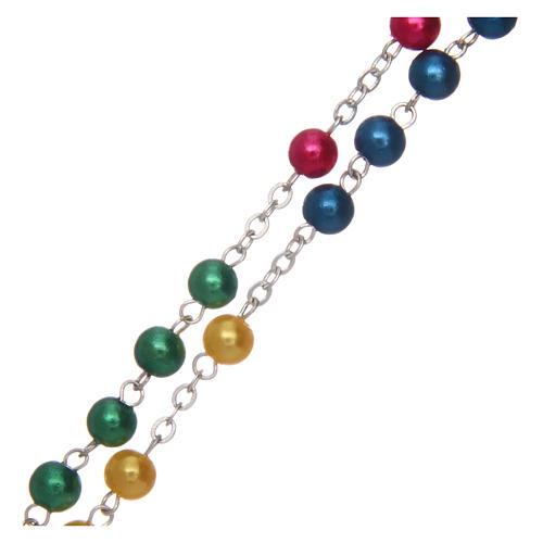 Rosario misionero de simil perla 6 mm 3
