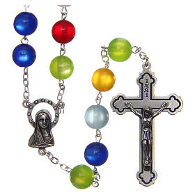 Rosary in multicoloured semi-pearl 10 mm s1