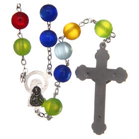 Rosary in multicoloured semi-pearl 10 mm s2