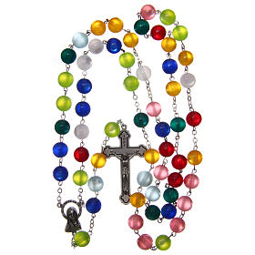 Rosary in multicoloured semi-pearl 10 mm s4