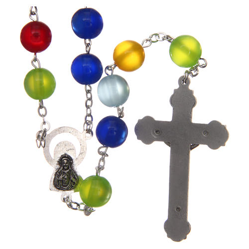 Rosary in multicoloured semi-pearl 10 mm 2