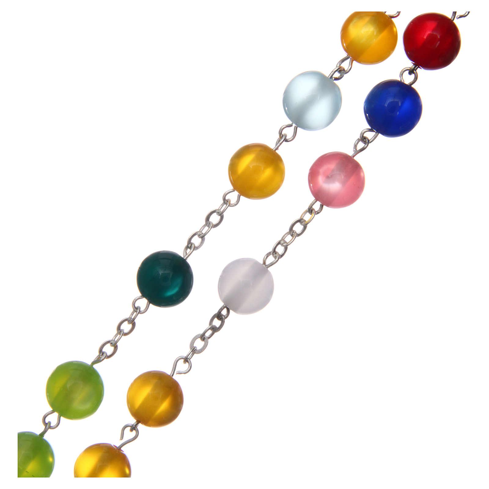 Rosario imitación madreperla multicolor 10 mm 4