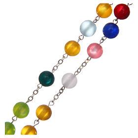 Rosario imitazione madreperla multicolore 10 mm s3