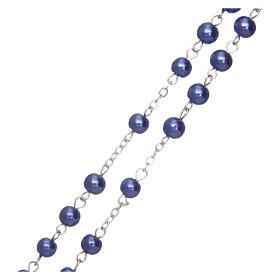 Rosario de simil perla grano redondo violeta 5 mm s3