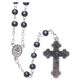 Imitation pearl rosary round grey beads 5 mm s2