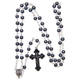 Imitation pearl rosary round grey beads 5 mm s4