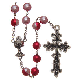 Round two-tone plastic rosary 8 mm s2