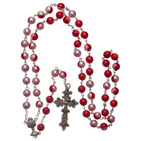 Round two-tone plastic rosary 8 mm s4