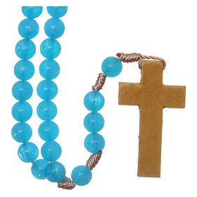 Rosarios símil perla: Rosario con engarce de seda granos 7,5 mm