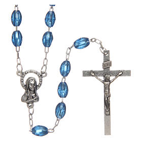 Rosary in plastic with 5x3 mm oval beads s1