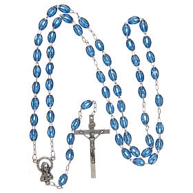 Rosary in plastic with 5x3 mm oval beads s4