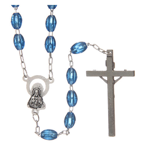 Rosary in plastic with 5x3 mm oval beads 2