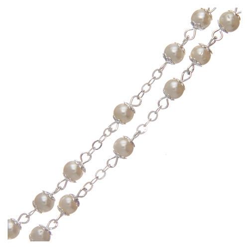 Rosario imitación perla 5 mm con chavetas 3