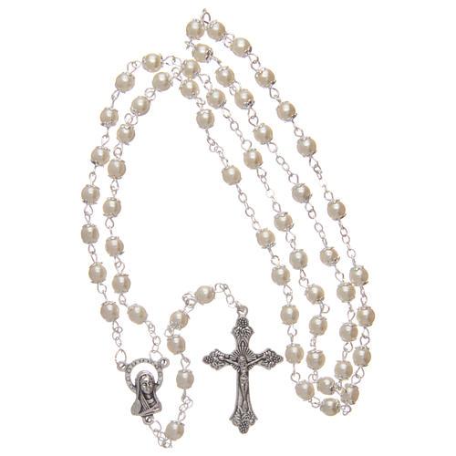 Rosario imitación perla 5 mm con chavetas 4