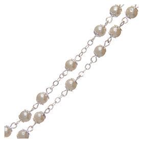 Rosario imitazione perla 5 mm con coppiglie s3