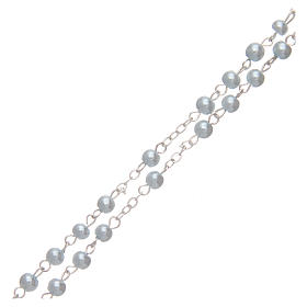 Blue semi-pearl rosary 4 mm s3