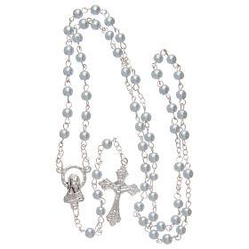 Blue semi-pearl rosary 4 mm s4