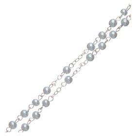 Rosario imitazione perla tonda 4 mm azzurro s3