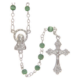 Rosario imitación perla 4 mm verde s1