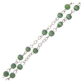 Rosario imitación perla 4 mm verde s3