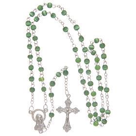 Rosario imitación perla 4 mm verde s4