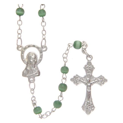 Rosario imitación perla 4 mm verde 1