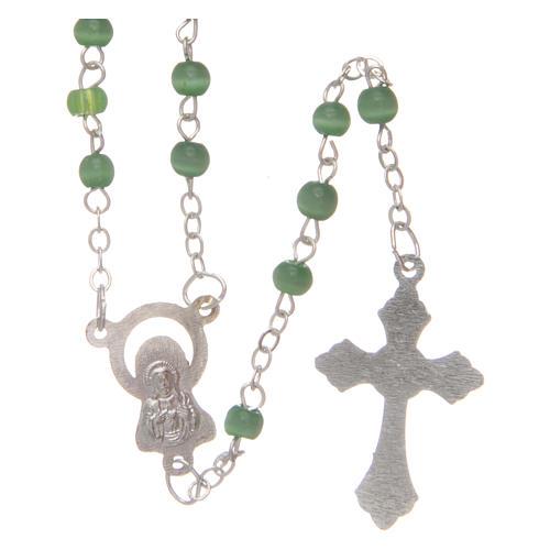 Rosario imitación perla 4 mm verde 2