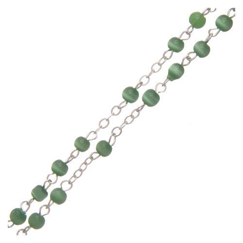 Rosario imitación perla 4 mm verde 3