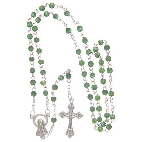 Rosario imitación perla 4 mm verde 4