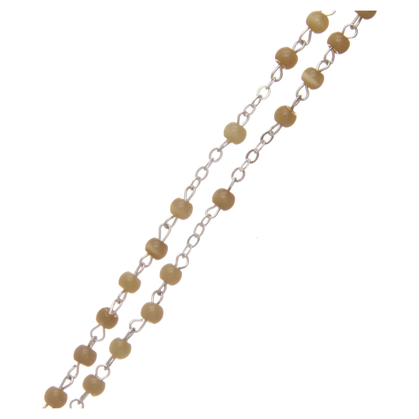 Rosario imitación perla redonda topacio 4 mm 4
