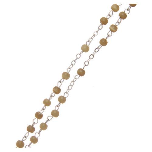 Rosario imitación perla redonda topacio 4 mm 3