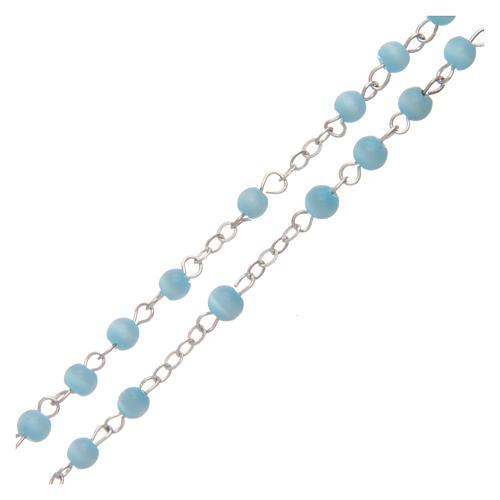 Aquamarine semi-pearl rosary 4 mm 3
