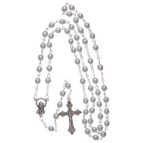 White semi-pearl rosary 5 mm with cotters s4