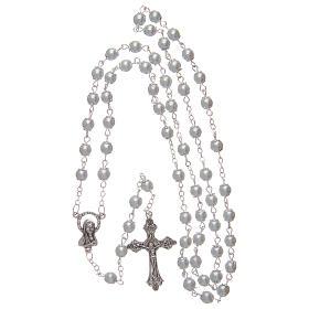 Rosario imitación perla blanco 5 mm con chavetas s4